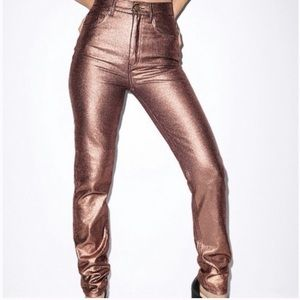 American Apparel rose gold mom jeans